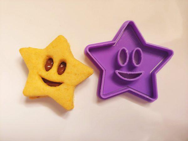 Biscotti ripieni stella faccina