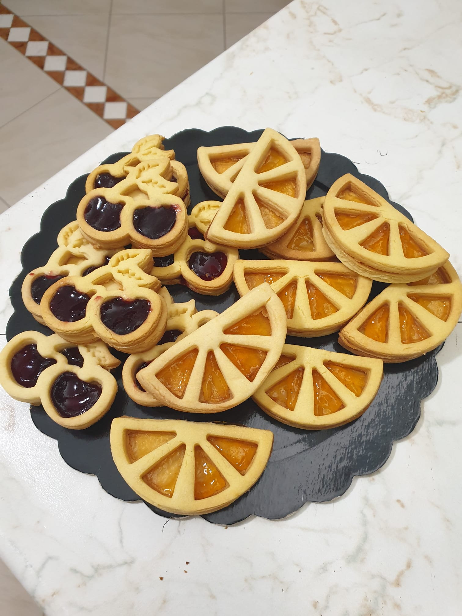 Formine biscotti spicchi di limone o arancia