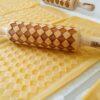 Mattarello legno biscotti Rombi