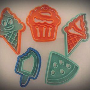 Set 5 formine biscotti estive