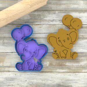 Elefantino con palloncini formina