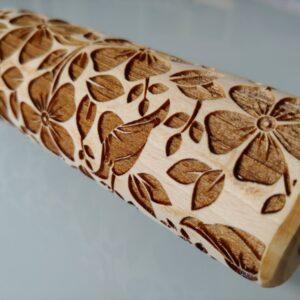 Mattarelli legno pattern fiori