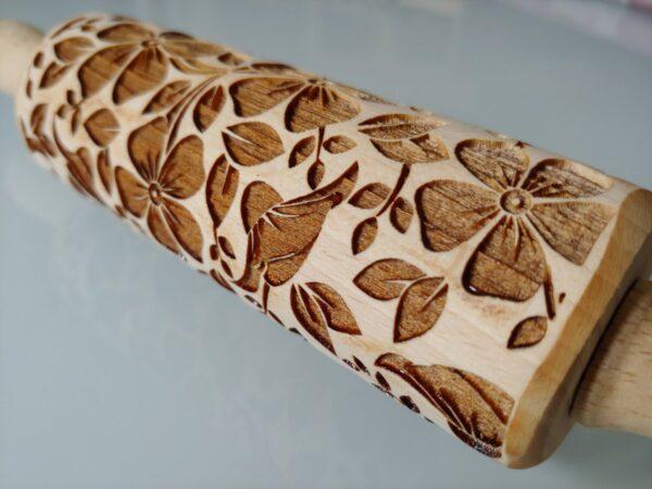 Mattarelli legno pattern fiori MT006