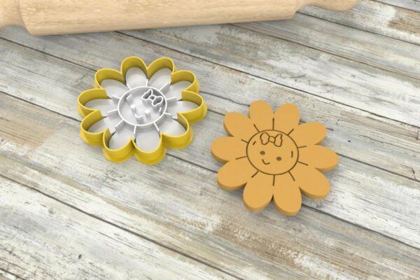 Formine biscotti a forma di fiore, tagliapasta fiore