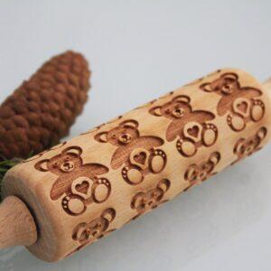 Mattarello legno decorato orsetti
