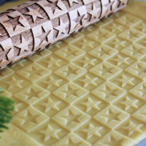 Mattarello pastafrolla inciso stelle