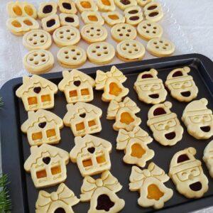 Biscotti occhio di bue Babbo Natale