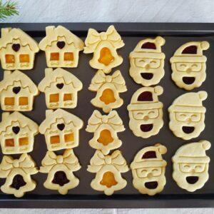 Set 3 Formine biscotti Natale Occhio di bue