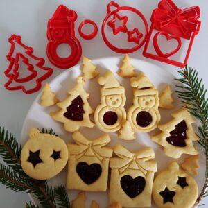 Set Formine biscotti Natale Occhio di bue