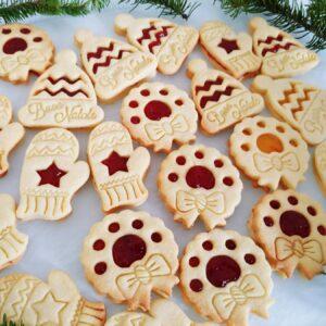 Formine biscotti ghirlanda occhio di bue