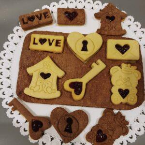 Biscotti Love con marmellata