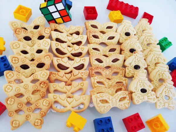 Stampi per biscotti taglipasta cutter Carnevale Pastafrolla Pasta di zucchero Maschera
