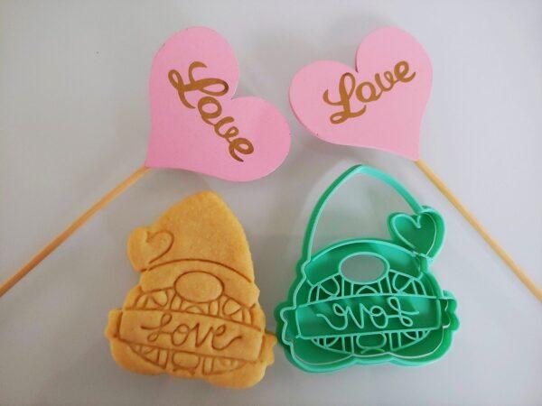 Gnomo Banner Love San Valentino