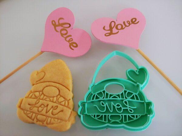Gnomo per biscotti San Valentino