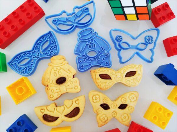 Set Formine Carnevale maschere clown