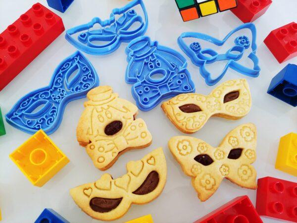 formine biscotti personalizzate di carnevale per biscotti pastafrolla