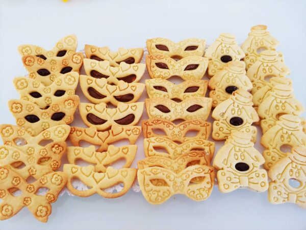 Maschere di carnevale veneziane formine biscotti