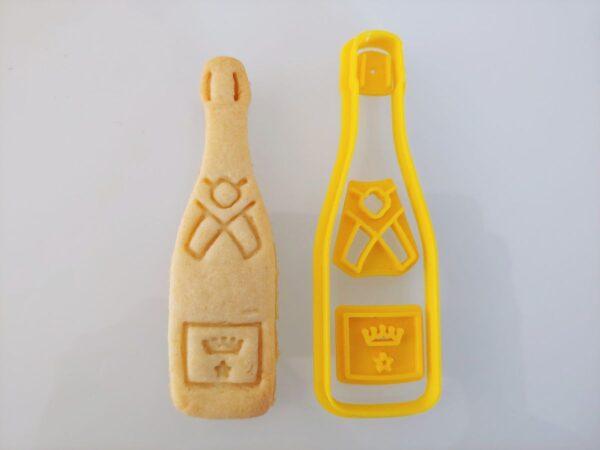 Bottiglia Champagne formina biscotti