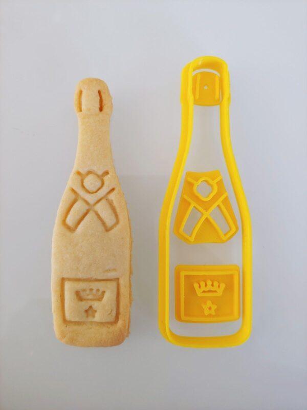 Biscotti bottiglia di spumante formine tagliapasta