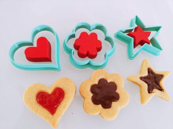 Biscotti di pastafrolla ripieni