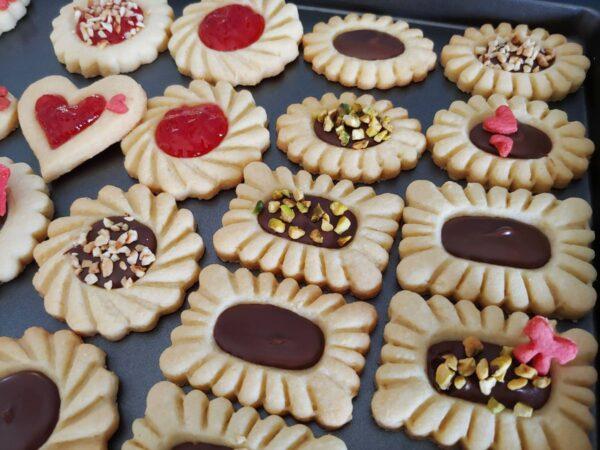 Stampi per biscotti pastafrolla farciti