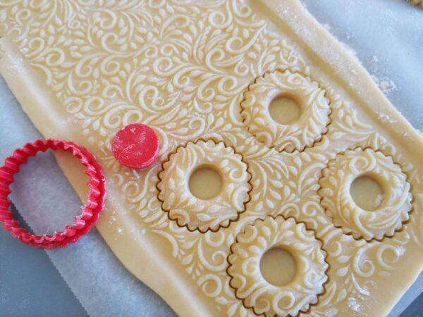 Mattarello per pastafrolla decorato fiori ulivo
