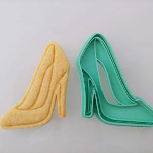 Scarpa con tacco formina biscotti